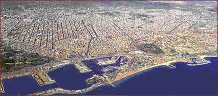 Paranomic View of Barcelona city