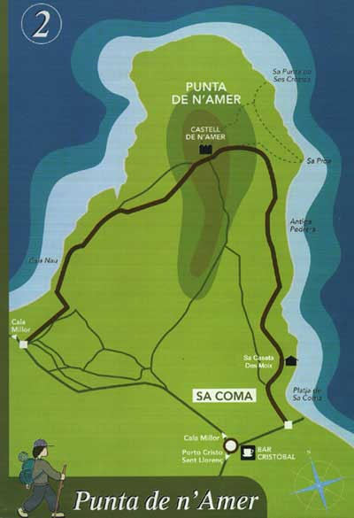 Route to Punta de nAmer