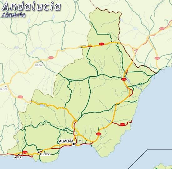 Provincia De Almeria Mapa.Mapa Almeria Mapa De Almeria Almeria Mapa Mapa Provincia