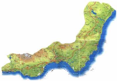 Map Of Spain Almeria.Almeria Coast Map