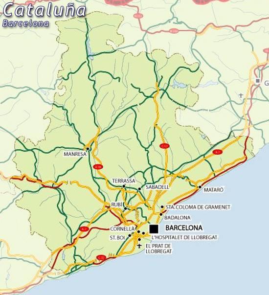 Mapa De Barcelona Provincia.Mapa Barcelona Mapa De Barcelona Barcelona Mapa Mapa
