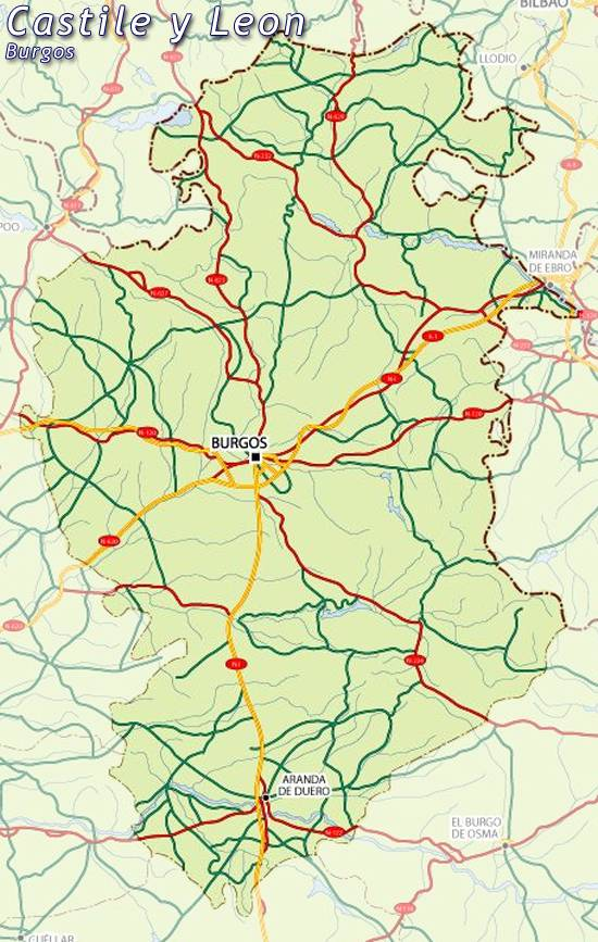 Mapa De España Burgos.Mapa De Burgos Mapa Burgos Burgos Mapa Mapa Provincia