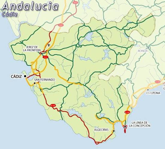 Map of Cadiz map for planning your holiday in Cadiz, Cadiz spain Cadiz Spain Map on