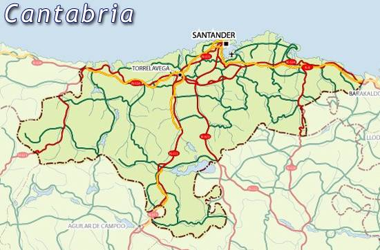 Maps of Cantrabria map for planning your holiday in Cantrabria