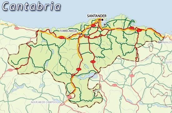 Mapa De Santander España.Mapa De Cantabria Mapa Cantabria Cantabria Mapa Mapa