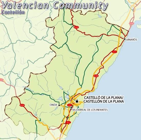 Provincia De Castellón Mapa.Mapa Castellon Mapa De Castellon Castellon Mapa Mapa