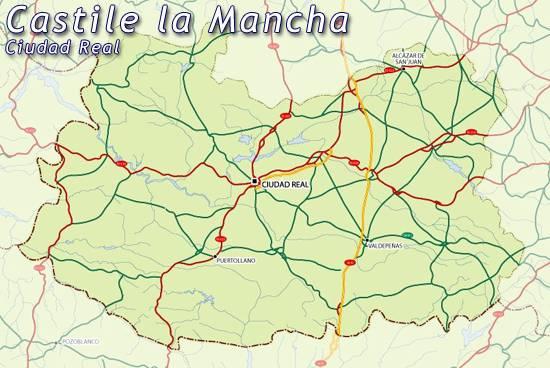 Mapa Provincia Ciudad Real.Mapa Ciudad Real Mapa De Ciudad Real Ciudad Real Mapa