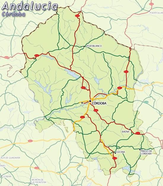 Mapa Provincia De Cordoba España.Mapa De Cordoba Mapa Cordoba Cordoba Mapa Mapa Provincia