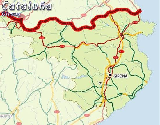Map of Girona map Gerona for planning your holiday in Gerona Girona