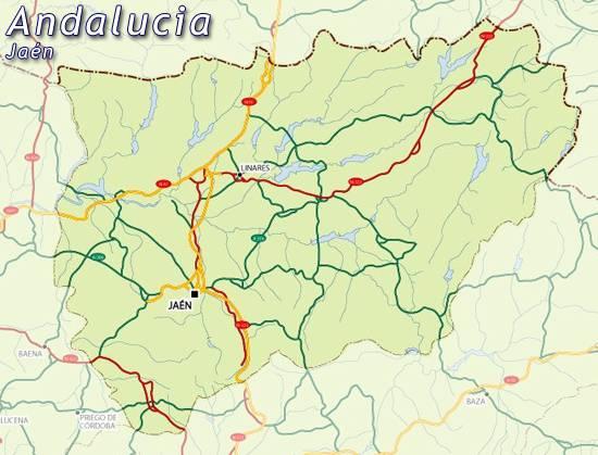 Mapa De Jaen Mapa Jaen Jaen Mapa Mapa Provincia Jaen Mapa De