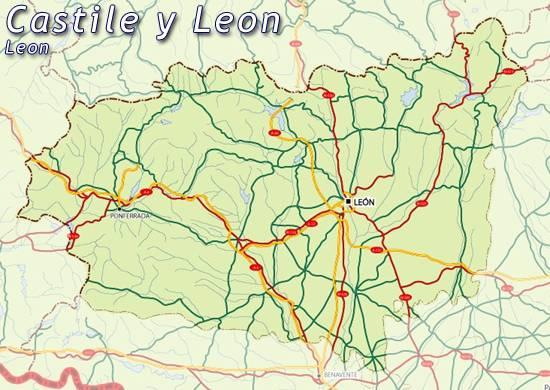 Mapa De Leon Mapa Leon Mapa De Castilla Y Leon Leon Mapa Mapa