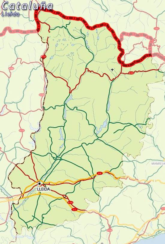 Mapa Lleida Mapa De Lleida Lleida Mapa Mapa Provincia Lleida