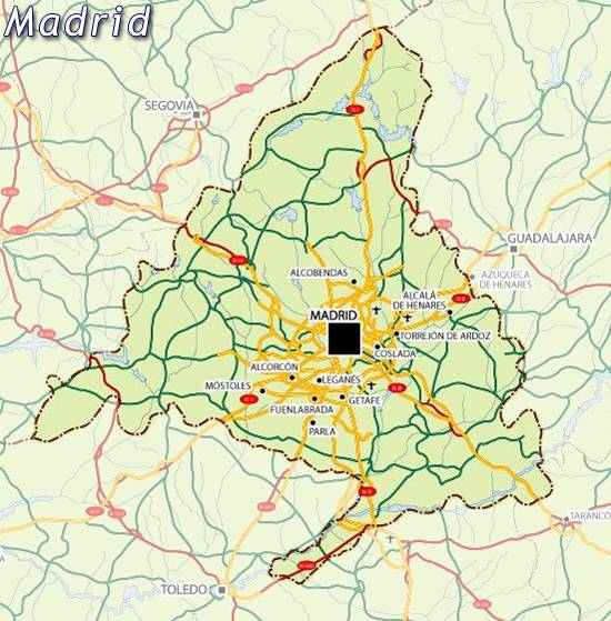 Maps of Madrid map for planning your holiday in Madrid, Madrid community