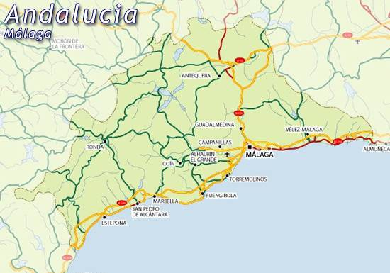Map Of Malaga Map For Planning Your Holiday In Malaga Malaga Spain