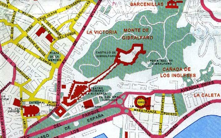 Malaga city map of malaga