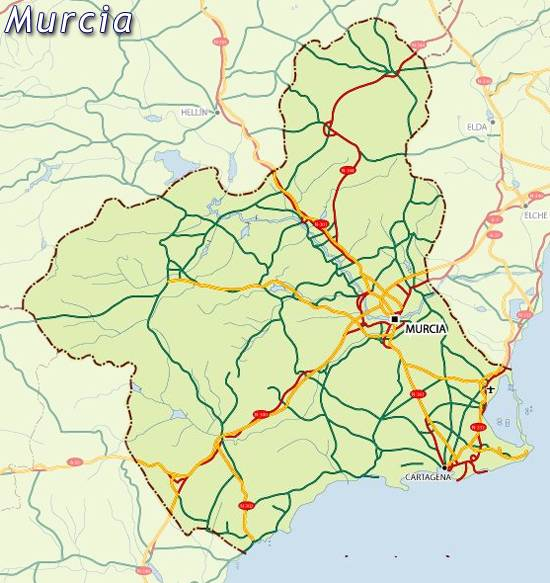 Map Of Spain Murcia.Maps Of Murcia Map For Planning Your Holiday In Murcia