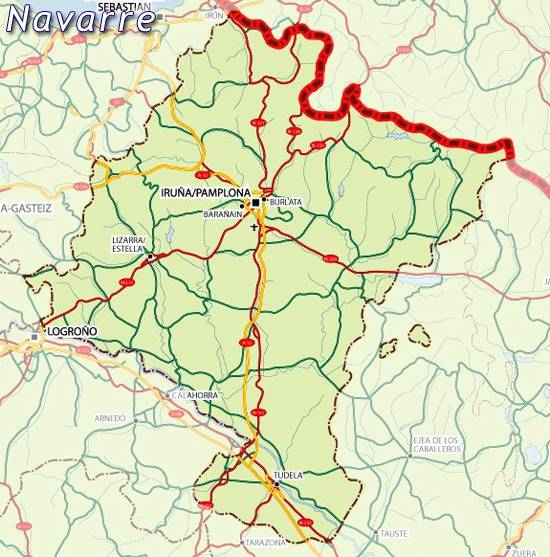 Map of Navarre