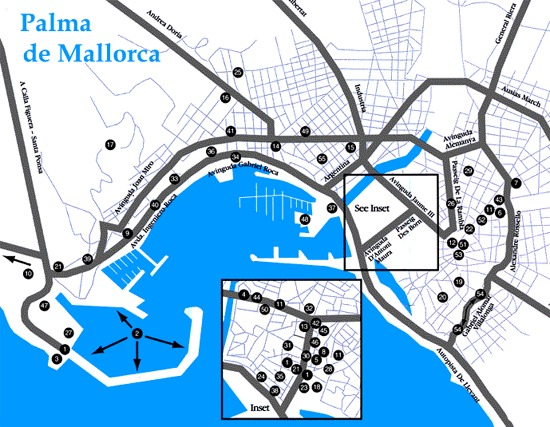 Map Of Spain Majorca.Map Of Palma De Mallorca Majorca Map For Planning Your Holiday In