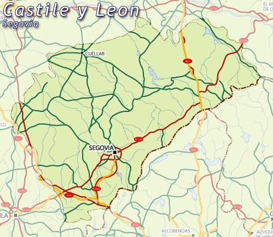 Provincia De Segovia Mapa.Mapa Segovia Mapa De Segovia Segovia Mapa Mapa Provincia