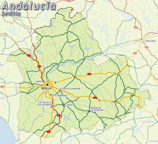 Mapa De Sevilla Mapa De La Provincia De Sevilla Mapa Callejero