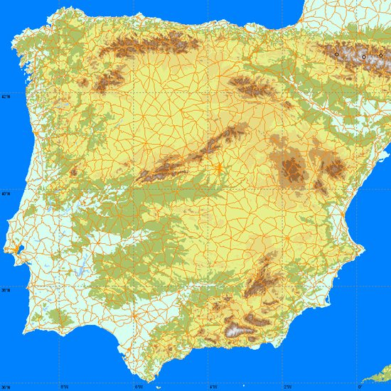 Maps of Spain map for planning your holiday in spain Spain Region maps