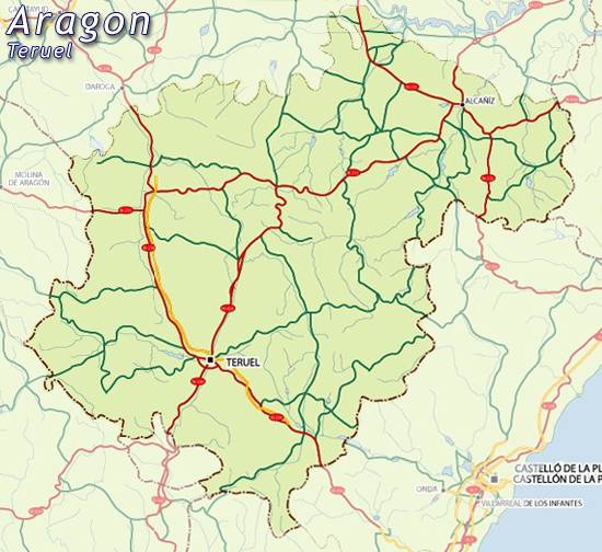 Mapa Teruel Mapa De Teruel Teruel Mapa Mapa Carreteras Teruel