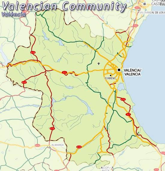 Map of Valencia map for planning your holiday in Valencia Valencia