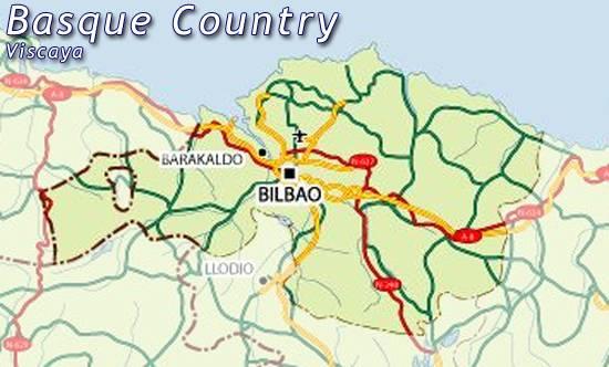 Mapa Vizcaya Mapa De Vizcaya Mapa Carreteras Vizcaya Vizcaya
