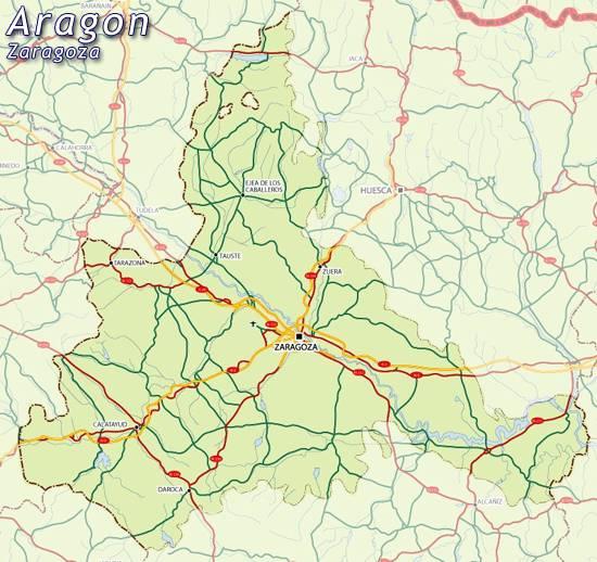 Map Of Spain Zaragoza.Zaragoza Spain Map Citiestips Com